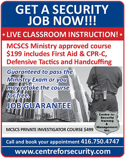 Psisa Ontario Security Guard Training Course 40 Hours