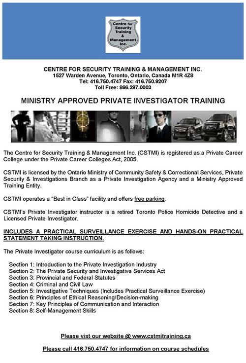 private investigator training