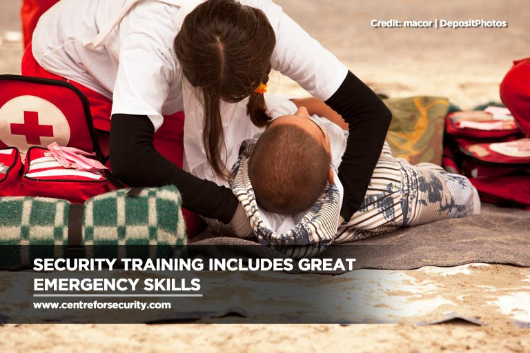 Security training includes great emergency skills