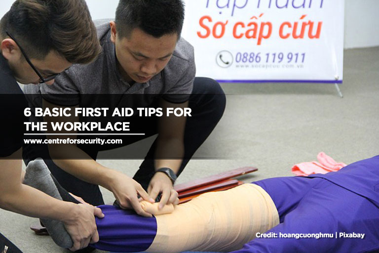 6 Basic First Aid Tips for the Workplace