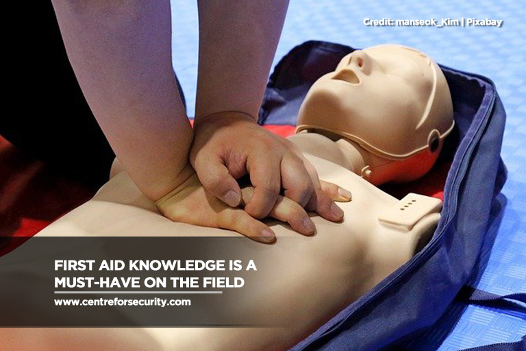 First aid knowledge is a must-have on the field